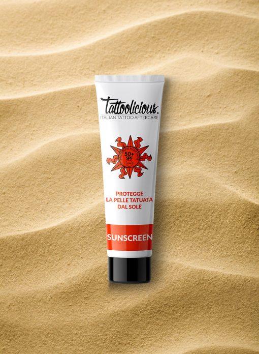 crema solare alta protezione per tatuaggi